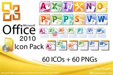Office Package Iconos Gratis Microsoft Office 2010