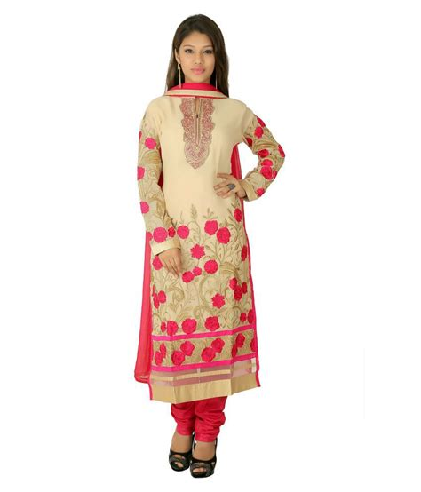 Es Span Dress span beige silk dress material available at snapdeal for