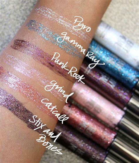 Decay Eyeliner heavy metal glitter eyeliner distortion best eyeliner
