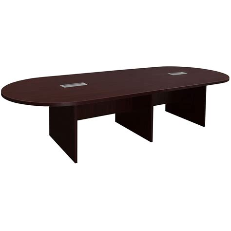 Mahogany Conference Table Everyday 10 Foot Laminate Racetrack Conference Table With Grommet Mahogany National Office