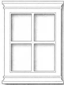 Window Templates by Memory Box Grand Window Die Patterns Coloring
