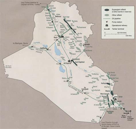 map of iraqi fields awraq september 2014