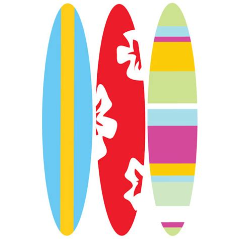 Paint By Number Wall Murals surfboard traceable wall mural