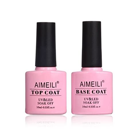 gel top coat no uv light aimeili soak off uv led gel nail polish base and no wipe