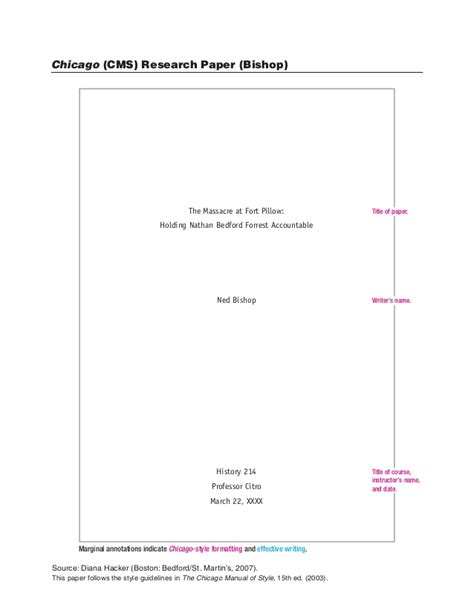 write  paper  chicago style format chicago