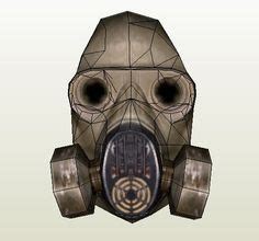 Gas Mask Papercraft - size m67 grenade free paper model http