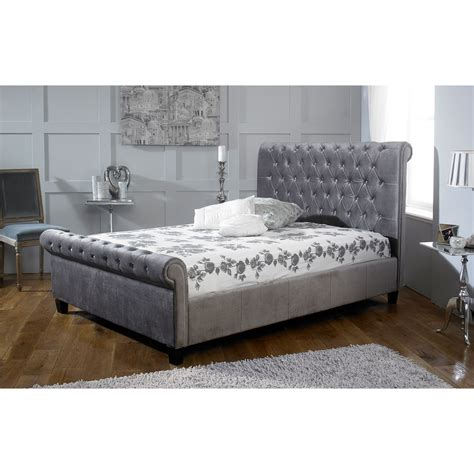buy bed frame buy limelight orbit silver bed frame online big