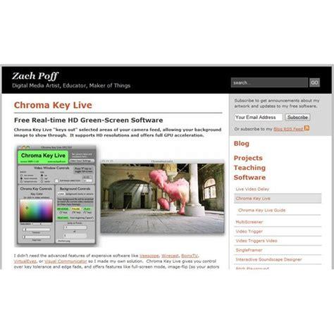 best chroma key software best five free green screen software
