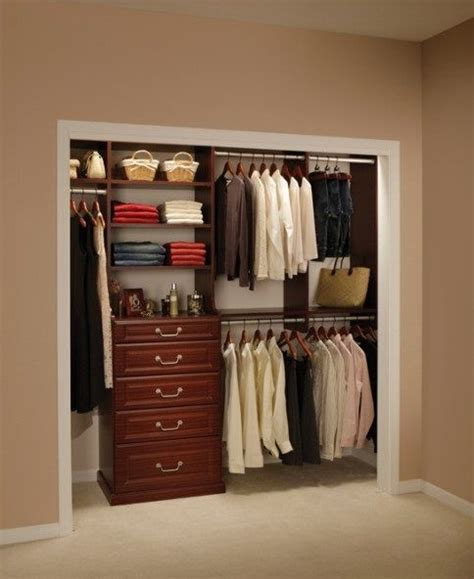 Small Closet Drawers by Fabulous Closet Ideas For Small Bedrooms Wooden Style