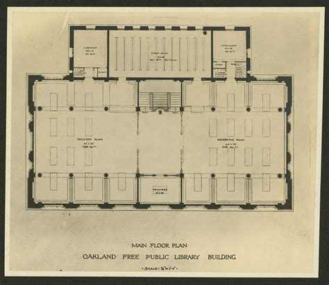 public building floor plans main floor plan oakland free public library building