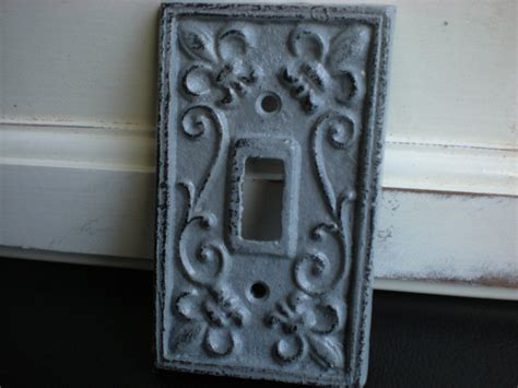 slate grey decorative light switch plate single by fromshab2chic
