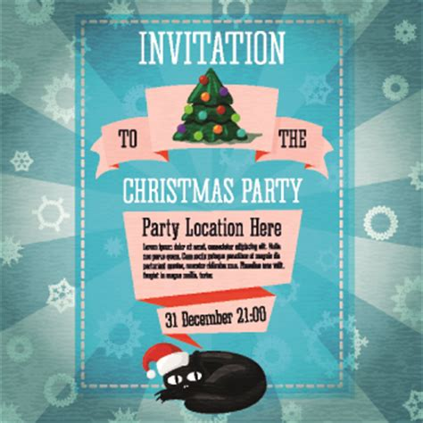 creative christmas party invitations invitation cover creative vector 03 vector free