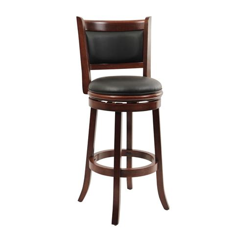 boraam augusta 29 in cherry swivel cushioned bar stool