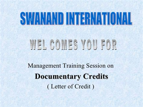 Letter Of Credit Seminars Letter Of Credit