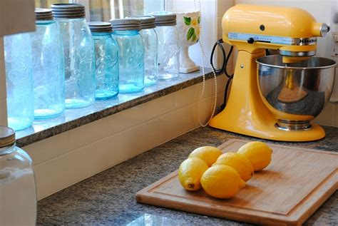 yellow KitchenAid mixer and lemons Chania   Hooked on Houses