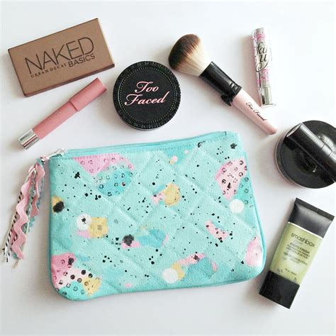 Tas Makeup Mini mixed media abstract makeup bag mini tutorial