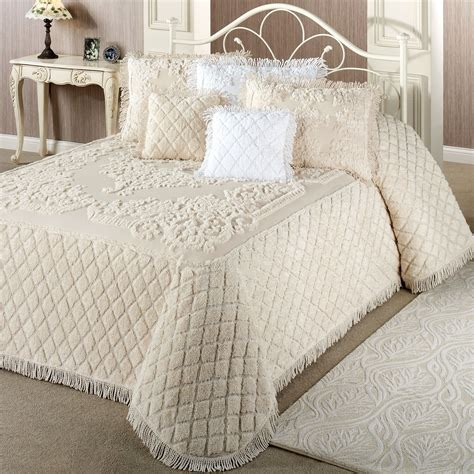 Chenille Bedding Lilian Cotton Chenille Bedspread Bedding