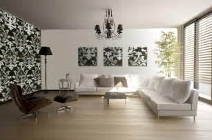 modern living room interior decorating ideas with mural
