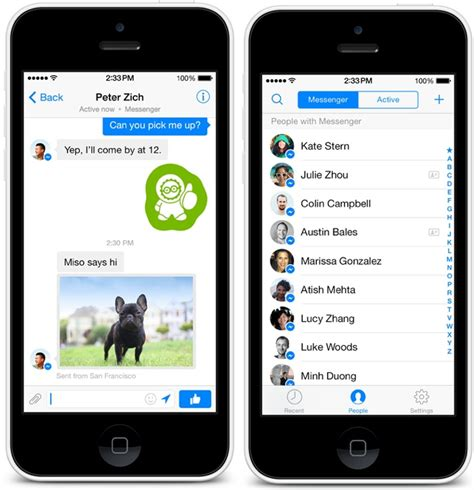 facebook messenger  ios updated  redesigned interface phone number integration mac rumors