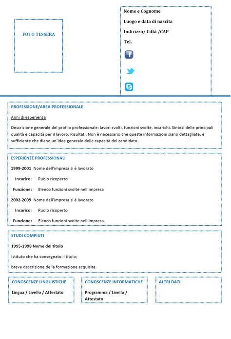 Modelo Curriculum Tematico Curriculum Vitae Funzionale Modello 04 Modello Curriculum