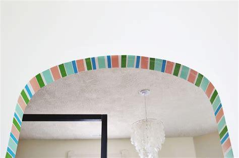 diy stripe doorway with washi a beautiful mess