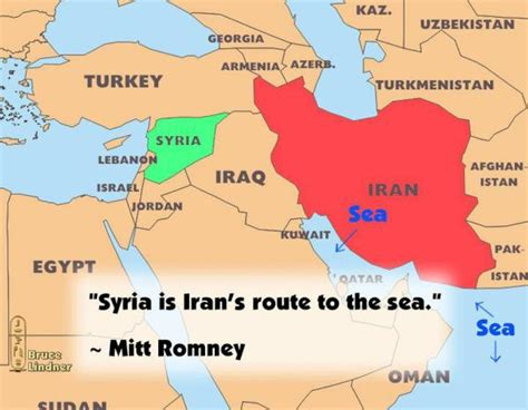 map iran syria mitt romney says syria is iran s only route to the sea