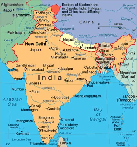india map with country names asia voyages india overview