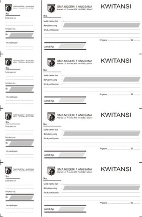 12 Isi 12 Kosong kwitansi seperempat folio format cdr archives desain template desain grafis