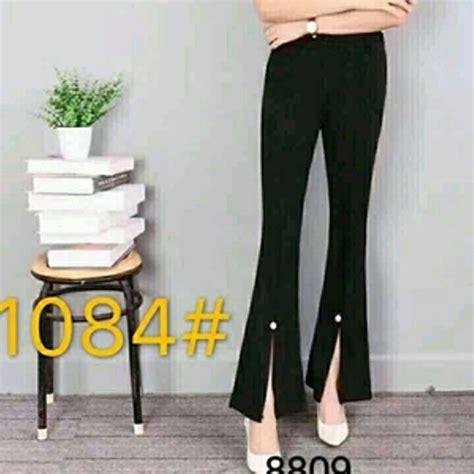 celana 3 4 new scuba herbalife jual celana panjang wanita 3 model celana cutbray bahan
