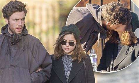tom hughes jenna jenna coleman is pictured kissing boyfriend tom hughes for