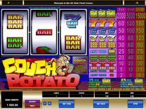 couch potato slots couch potato the most played online 3 reel slot online