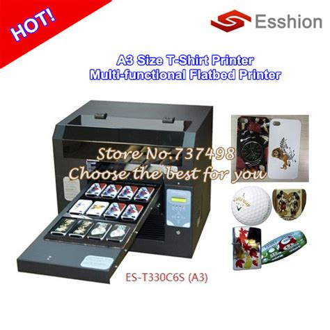 Printer Dtg A3 Epson multi purpose 6 colors a3 size dtg t shirt printer digital flatbed printer epson direct to