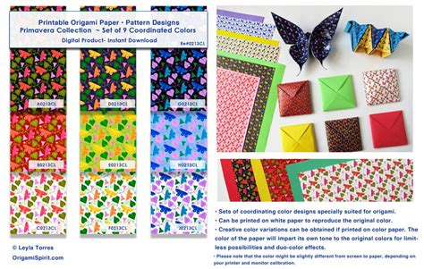 How Big Is An Origami Paper - printable origami paper digital design patterns