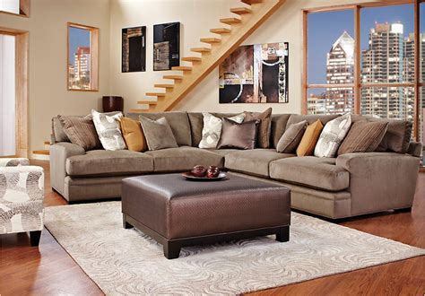 rooms to go fontaine brown sectional 4pc