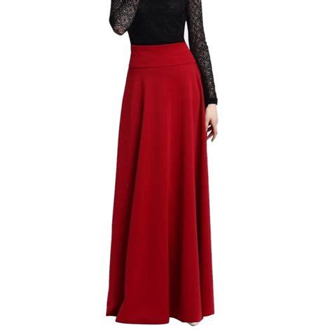 2018 5xl new high waist pleat skirt wine black