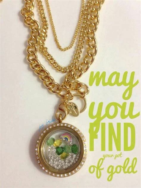 Gold Origami Owl - 1000 images about st day lockets on
