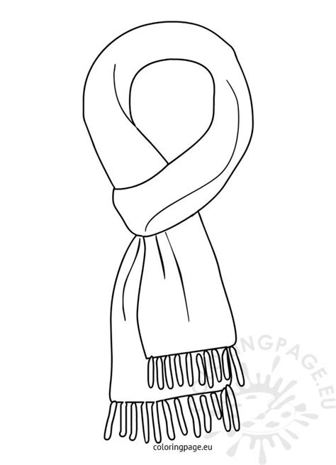coloring page winter scarf winter scarf black and white coloring page