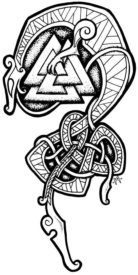 viking art tattoo designs viking serpent by workshop https teespring