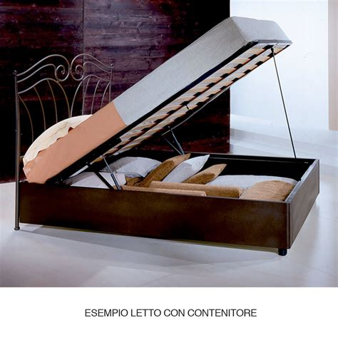 letto in ferro battuto con contenitore letto singolo in ferro battuto garofano viadurini