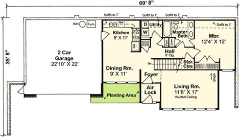 earth sheltered home floor plans earth sheltered home plan 11392g architectural designs