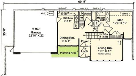 earth sheltered home plan 11392g 1st floor master
