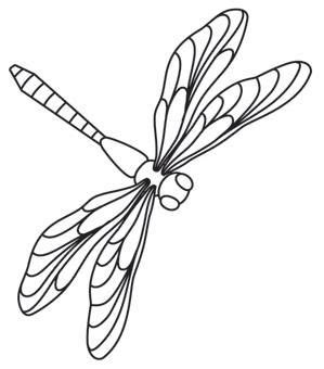 Dragonfly Outline Template by Dragonflies Threads Unique And Awesome Embroidery Designs Mosaic Patterns And