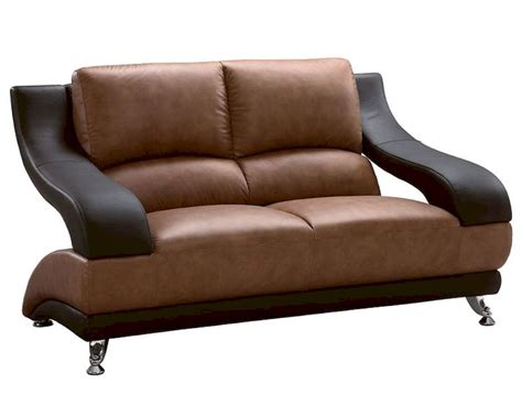 two tone leather sofa eurodesign leather brown two tone loveseat gf982l