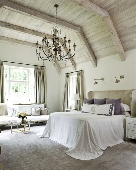 high bedroom decorating ideas chandelier high wood ceiling