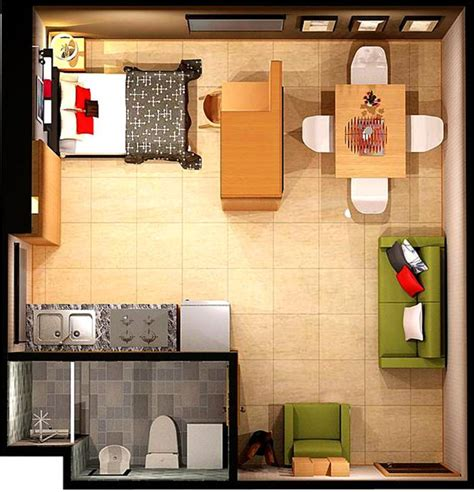 studio apartment floor plan 15 smart studio apartment floor plans