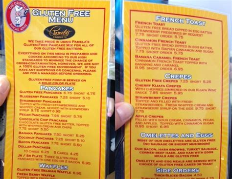 the original pancake house menu original pancake house gluten free menu gluten free diet tips for celiac disease