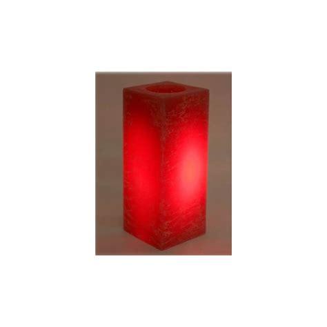 candela cera candela cera a led deluxe quadrata cm 15 colore rossa
