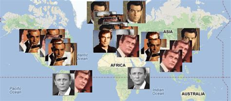 james bond film locations maps mania december 2012