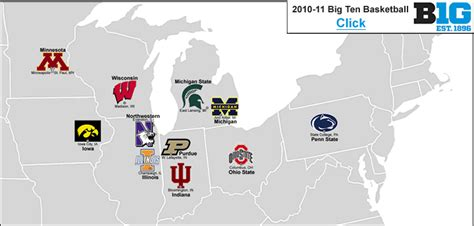 big ten map big 12 conference map wallpaper
