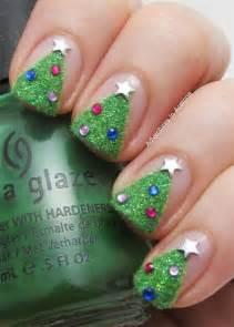 Easy christmas tree nail art designs ideas stickers 2015 xmas nails 1